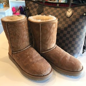 Cheetah embossed Ugg boots